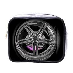 Bord Edge Wheel Tire Black Car Mini Toiletries Bags