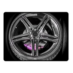 Bord Edge Wheel Tire Black Car Fleece Blanket (Small)