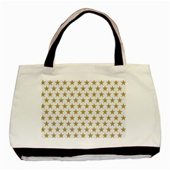 Golden stars pattern Basic Tote Bag (Two Sides)