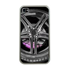 Bord Edge Wheel Tire Black Car Apple iPhone 4 Case (Clear)