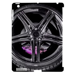 Bord Edge Wheel Tire Black Car Apple iPad 3/4 Hardshell Case (Compatible with Smart Cover)
