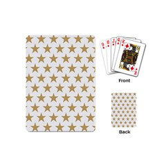 Golden stars pattern Playing Cards (Mini)