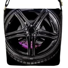Bord Edge Wheel Tire Black Car Flap Messenger Bag (S)
