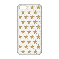 Golden stars pattern Apple iPhone 5C Seamless Case (White)