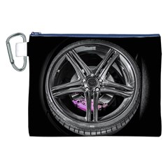 Bord Edge Wheel Tire Black Car Canvas Cosmetic Bag (XXL)