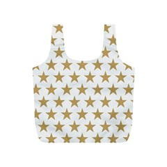 Golden stars pattern Full Print Recycle Bags (S)