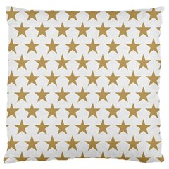 Golden stars pattern Standard Flano Cushion Case (One Side)