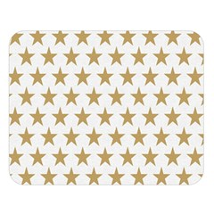 Golden stars pattern Double Sided Flano Blanket (Large)