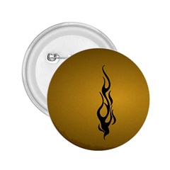 Flame black, golden background 2.25  Buttons