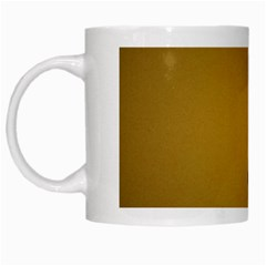 Flame black, golden background White Mugs
