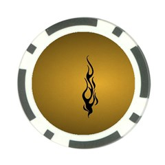 Flame black, golden background Poker Chip Card Guards