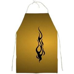 Flame black, golden background Full Print Aprons