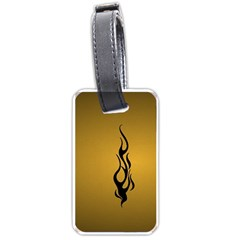 Flame black, golden background Luggage Tags (One Side)