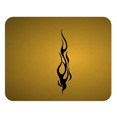 Flame black, golden background Double Sided Flano Blanket (Large)