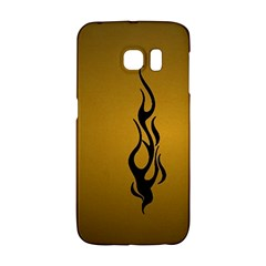 Flame black, golden background Galaxy S6 Edge