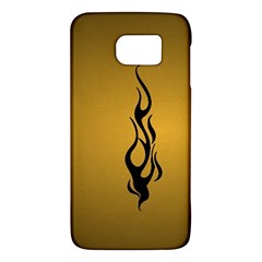 Flame black, golden background Galaxy S6