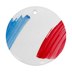Tricolor banner france Ornament (Round)