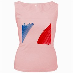 Tricolor banner france Women s Pink Tank Top