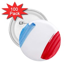 Tricolor banner france 2.25  Buttons (100 pack)