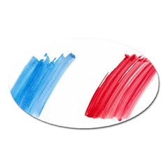 Tricolor banner france Oval Magnet