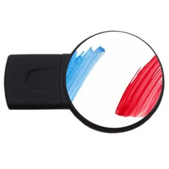 Tricolor banner france USB Flash Drive Round (2 GB)