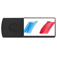 Tricolor banner france USB Flash Drive Rectangular (1 GB)