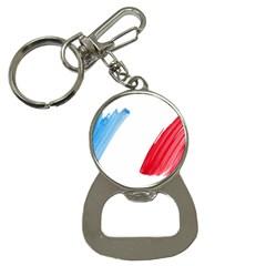 Tricolor banner france Button Necklaces