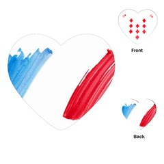 Tricolor banner france Playing Cards (Heart)