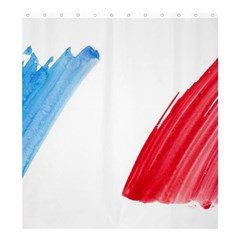 Tricolor banner france Shower Curtain 66  x 72  (Large)