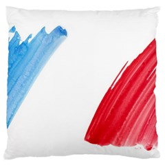 Tricolor banner france Large Cushion Case (One Side)
