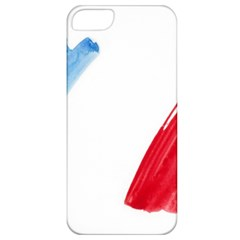 Tricolor banner france Apple iPhone 5 Classic Hardshell Case