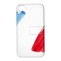 Tricolor banner france Apple iPhone 4/4S Hardshell Case with Stand