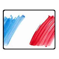 Tricolor banner france Double Sided Fleece Blanket (Small)