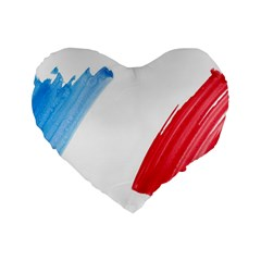 Tricolor banner france Standard 16  Premium Flano Heart Shape Cushions