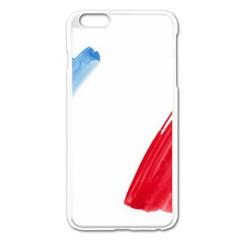 Tricolor banner france Apple iPhone 6 Plus/6S Plus Enamel White Case