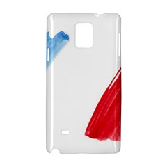 Tricolor banner france Samsung Galaxy Note 4 Hardshell Case