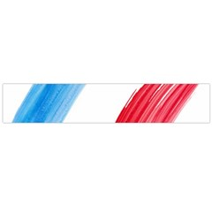 Tricolor banner france Flano Scarf (Large)