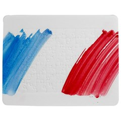 Tricolor banner france Jigsaw Puzzle Photo Stand (Rectangular)