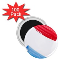 Tricolor banner watercolor painting, red blue white 1.75  Magnets (100 pack)