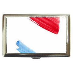 Tricolor banner watercolor painting, red blue white Cigarette Money Cases