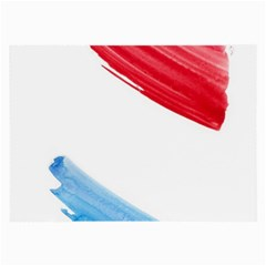 Tricolor banner watercolor painting, red blue white Large Glasses Cloth (2-Side)
