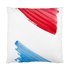 Tricolor banner watercolor painting, red blue white Standard Cushion Case (Two Sides)