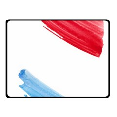 Tricolor banner watercolor painting, red blue white Fleece Blanket (Small)
