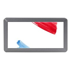 Tricolor banner watercolor painting, red blue white Memory Card Reader (Mini)