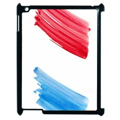Tricolor banner watercolor painting, red blue white Apple iPad 2 Case (Black)