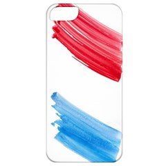 Tricolor banner watercolor painting, red blue white Apple iPhone 5 Classic Hardshell Case