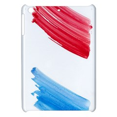 Tricolor banner watercolor painting, red blue white Apple iPad Mini Hardshell Case