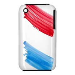 Tricolor banner watercolor painting, red blue white iPhone 3S/3GS