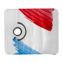 Tricolor banner watercolor painting, red blue white Galaxy S3 (Flip/Folio)