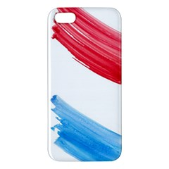 Tricolor banner watercolor painting, red blue white Apple iPhone 5 Premium Hardshell Case